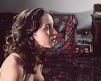 Petite brunette hair acquires drilled my masked chaps in retro movie scene