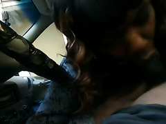 Dirty milf ebon whore gives me head in my car on livecam