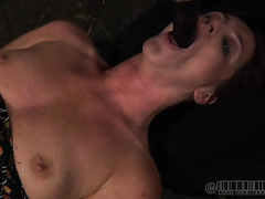 Spoiled wench acquires her face hole and pussy tortured by her mistress