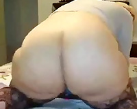 This older bitch has a big booty that turns everybody else green with envy