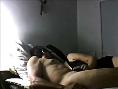 My sexually excited wife gives me a cook jerking in homemade movie scene