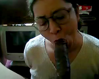Freaky and aged weenie gobbler uses no hands to engulf my BBC
