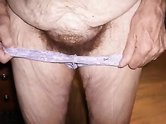 Russian granny cheating wife with saggy milk cans and hairy love tunnel