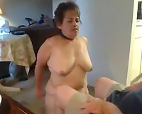My older and plump white wife wishes to be a sex slave for me