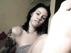 Webcam foot fetish episode with my recent tattooed brunette hair ally