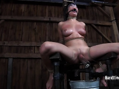 Horny Asian nympho receives the torment that babe merits