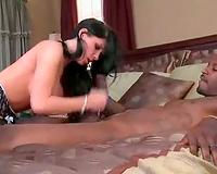 Rebeca Linares interracial sex with large jock