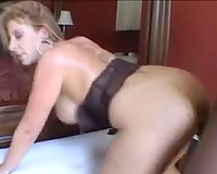 Milf Sara jay and the dark chap receive it on