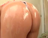 Slow motion large butt tease and BBC sex