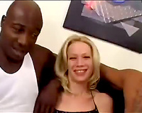 Skinny golden-haired in hot raiment sucks dark jocks