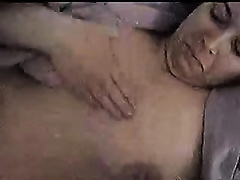 Busty white big beautiful woman horny white wife masturbating in couch with a knob upon her face