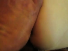 My bride groans loudly as I drill her cum-hole doggy style