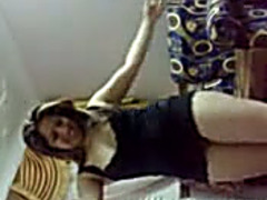 Pale skin Egyptian girlfriend gives me dance shaking her large a-hole