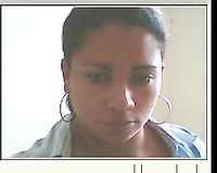 Colombian black skin cutie is so serious on the web camera