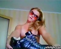 Leggy teen presents 1st homemade sex clip