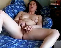 Tempestuous mother I'd like to fuck with soaked jugs masturbating in front of me