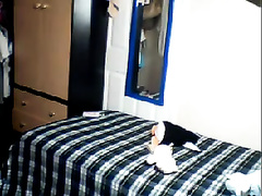 Nice non-professional pair bonks in quite steamy missionary position on web camera