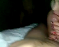 Russian blond and dark brown doxies shared 2 subrigid penis for blowjobs