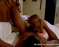 Amateur large breasted cheating wifey has a actually nice interracial fuck