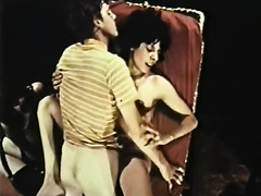 Vintage pron compilation with limber brunette hair and masturbating doxy