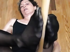 My trashy looking BBC slut in ripped hose