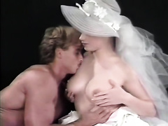 Busty pale skin hot blondie enjoys carpet munch from her guy