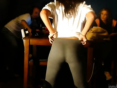 This bootyful seductress in sexy constricted panties is a horny white wife of my fantasies