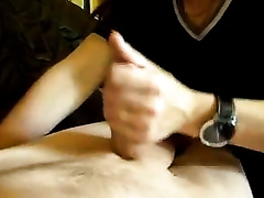 Hungry bulky white slutwife greedily eating my dong on livecam