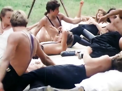 Amazing party in the garden turns into giant fuckfest with lustful white cuties