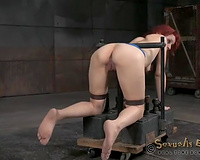 Redhead white whore submissively suggests her mouth for fuck