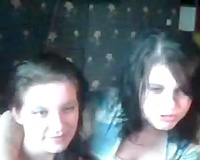 Two perverted dark brown sweethearts have no thing against flashing milk sacks