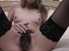 Finest vibrations for her unshaved little beaver