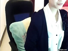 Secretary got likewise horny whilst chatting on camera