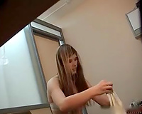 Cute legal age teenager girlfriend filmed on my hidden spy camera in the room