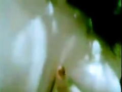 Ugly Arab chick with svelte natural body masturbating on web camera