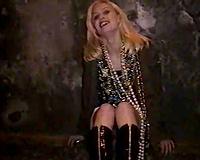 Drunk blond non-professional sweetheart masturbates outdoors during mardi gras