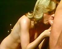 Bitchy golden-haired gal acquires her hairy kitty turbulently fingered and shoved from behind