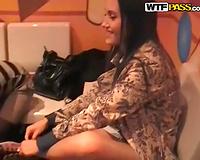 Ravishing brunette hair Russian gal Vika learns how to play bowling