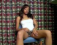 Masturbation solo of my sizzling hawt leggy ebony girlfriend