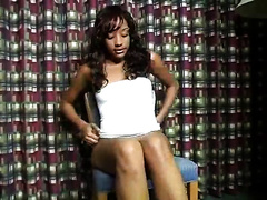 Masturbation solo of my sizzling hawt leggy ebony girlfriend