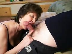 Hungry for pecker mature secretary sucked my knob deepthroat