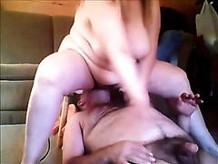 Riding the face of my older curly husband with my snatch