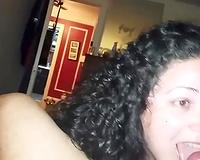 Chubby Latin MILF engulfing my 10-Pounder like thirsty hooker