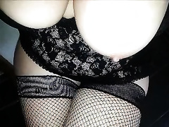 Freaky outfits and sex toys of my obese white breasty wife