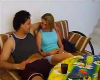 My lusty Turkish white bitch seduces our neighbor and gives him a oral