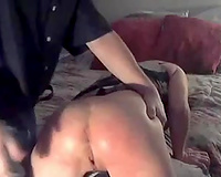 Lewd livecam stud teased fuck holes of quite good brunette hair doxy