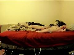 Hidden camera episode of my slender mother-in-law masturbating