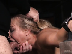 Juicy and hawt golden-haired girl restrained and orally destroyed
