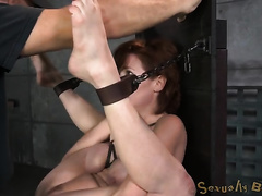 Busty redhead milf exposes her secrets for BDSM fetish