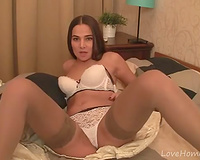 Long brown hair and the excitement for masturbation